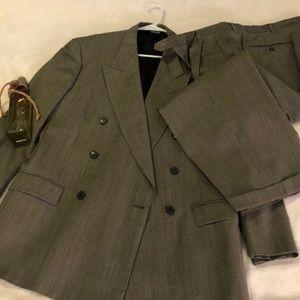 42R Pierre Cardin Double Breasted Distinctive Suit